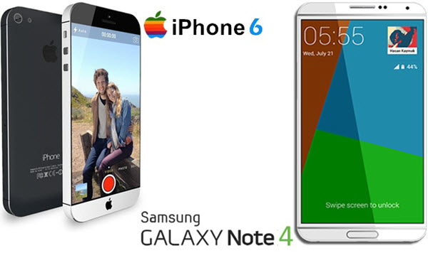 iphone 6 vs samsung galaxy note 4