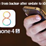 How To Restore From Backup After Update To iOS 8.0.2 ?