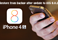 restore from backup after update to ios 8.0.2