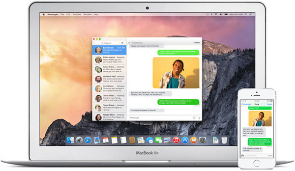 download text messages from iphone to macboo air
