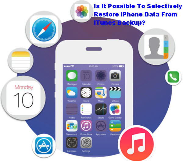 Is It Possible To Selectively Restore iPhone Data From iTunes Backup