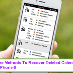 Three Methods To Recover Deleted Calendars On iPhone 6