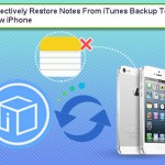 Selectively Restore Notes From iTunes Backup To New iPhone