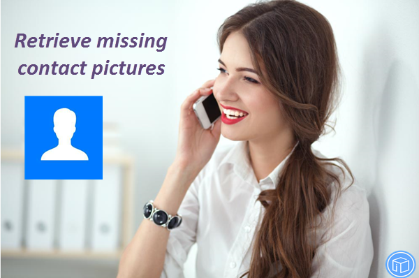 restore lost contact pictures on iphone