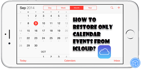 restore only calendar from icloud backup
