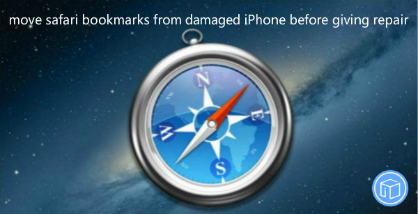 transfer bookmarks from damaged iphone before giving repair,