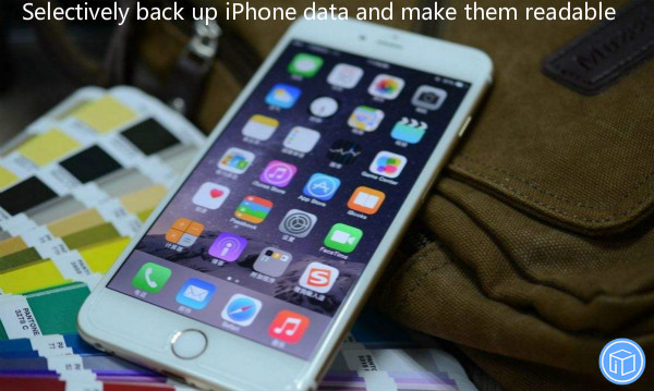 separately back up iphone data and make it easy to see them