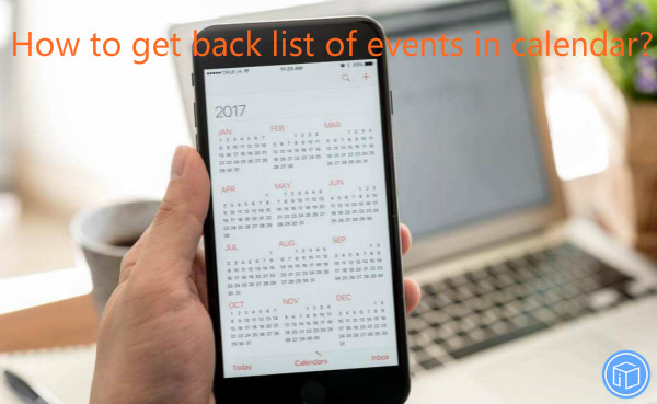 regain events from calendar