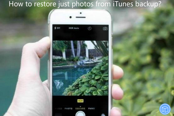 preserve only images from itunes backup