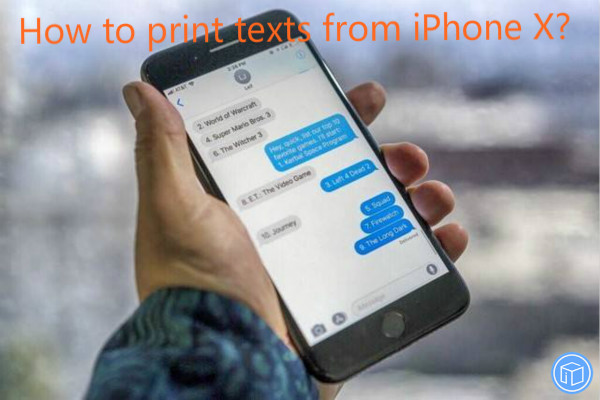 export text messages from iphone x
