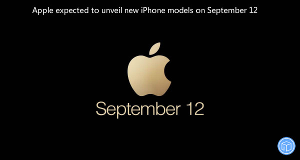 apple's next iphone event will be on september 12