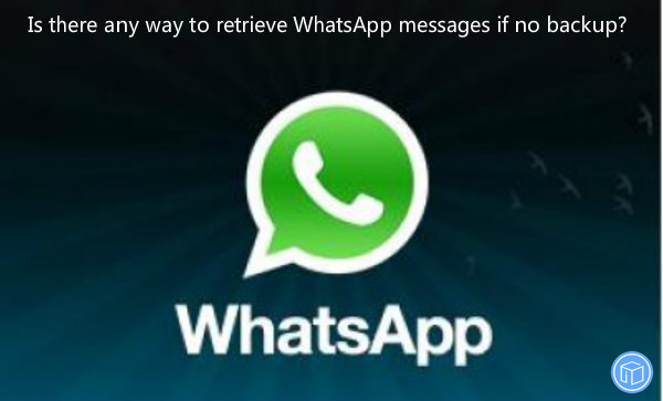 get whatsapp data back without backup file