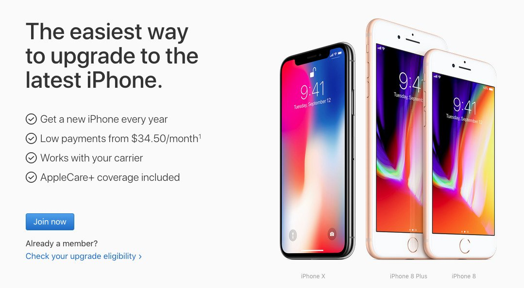 spend more to upgrade in september if you bought an iphone x on the apple upgrade program